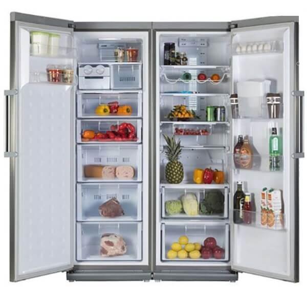 چارسومارکت-فروشگاه اینترنتی چارسومارکت-لوازم خانگی-یخچال فریزر-یخچال و فریزر دوقلو دیپوینت مدل D4i-proسیلور(2)