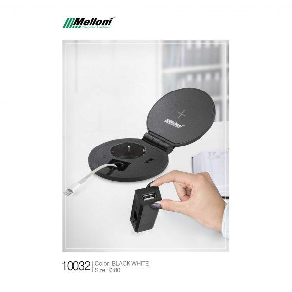 چارسو مارکت-فروشگاه اینترنتی چارسو مارکت-نورپردازی و تجهیزات الکتریکی-پریز برق ملونی کد 10032