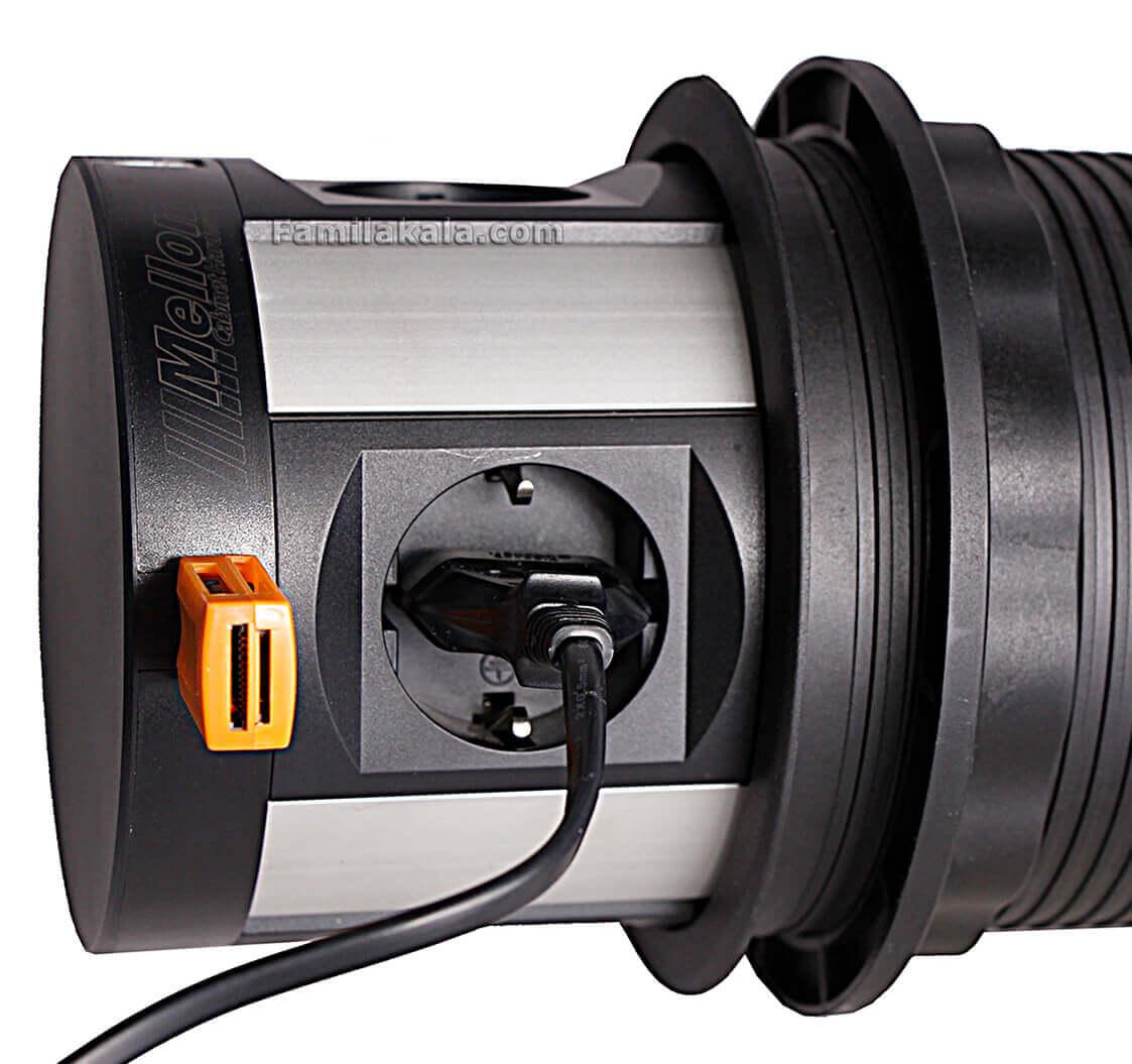 چارسو مارکت-فروشگاه اینترنتی چارسو مارکت-نورپردازی و تجهیزات الکتریکی-پریز برق ملونی کد 10026