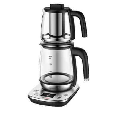 چارسومارکت-فروشگاه اینترنتی چارسومارکت-چایساز و کافی میکر و قهوه ساز-چای ساز تک الکتریک TM1108-80SB